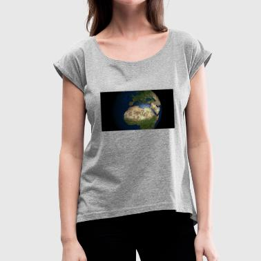 World Globe WORLD GLOBE - Women's T-Shirt with rolled up sleeves