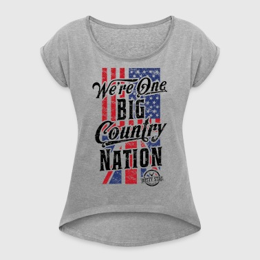 Country Nation Ladies Racer - Women's T-shirt with rolled up sleeves