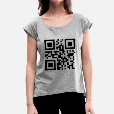 Tina QR Code Name: Tina - Vector - Women's T-Shirt with rolled up sleeves