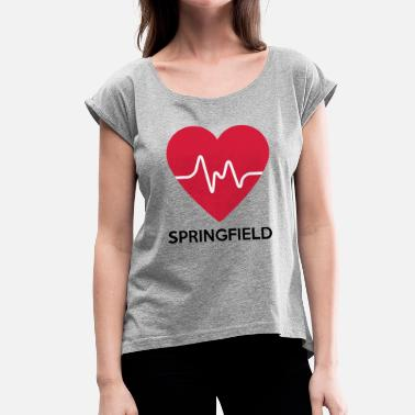 Springfield Heart Springfield - Women's T-Shirt with rolled up sleeves