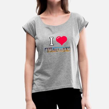 I Love Amsterdam I love Amsterdam - Women's T-Shirt with rolled up sleeves