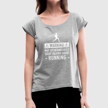 Grandad Running Running Funny Gift Idea - Women's T-Shirt with rolled up sleeves
