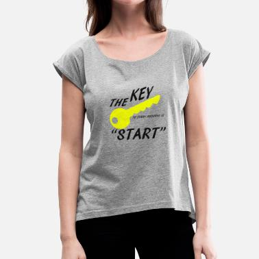 Successful Life success - Women's T-Shirt with rolled up sleeves