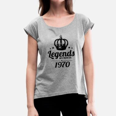 1970s Legends 1970 - Women's T-Shirt with rolled up sleeves