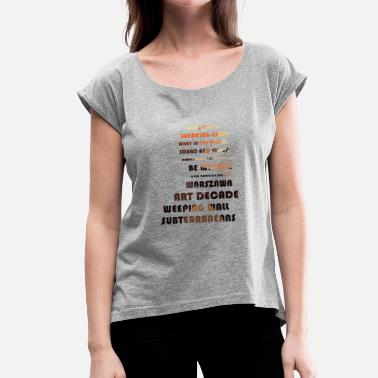 David David Bowie: Low, Song Titles - Women's T-Shirt with rolled up sleeves
