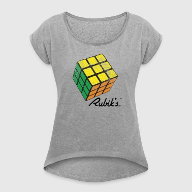 Rubik's Cube Vintage - Women's T-shirt with rolled up sleeves