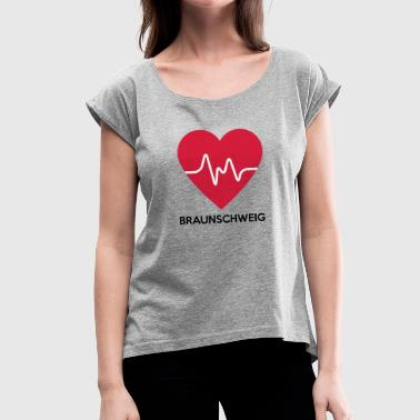 Braunschweig heart Braunschweig - Women's T-Shirt with rolled up sleeves