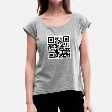 Offensive Offensive QR Code - Women's T-Shirt with rolled up sleeves
