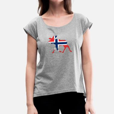 Norway Moose Norway moose - Women's T-Shirt with rolled up sleeves