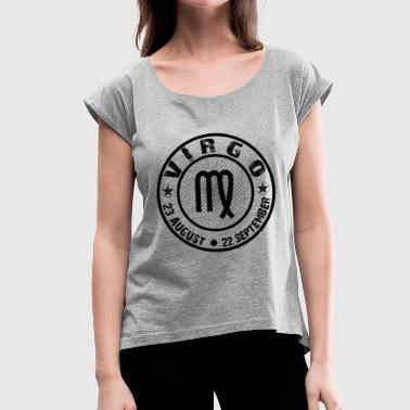 -VIRGO- - Women's T-Shirt with rolled up sleeves
