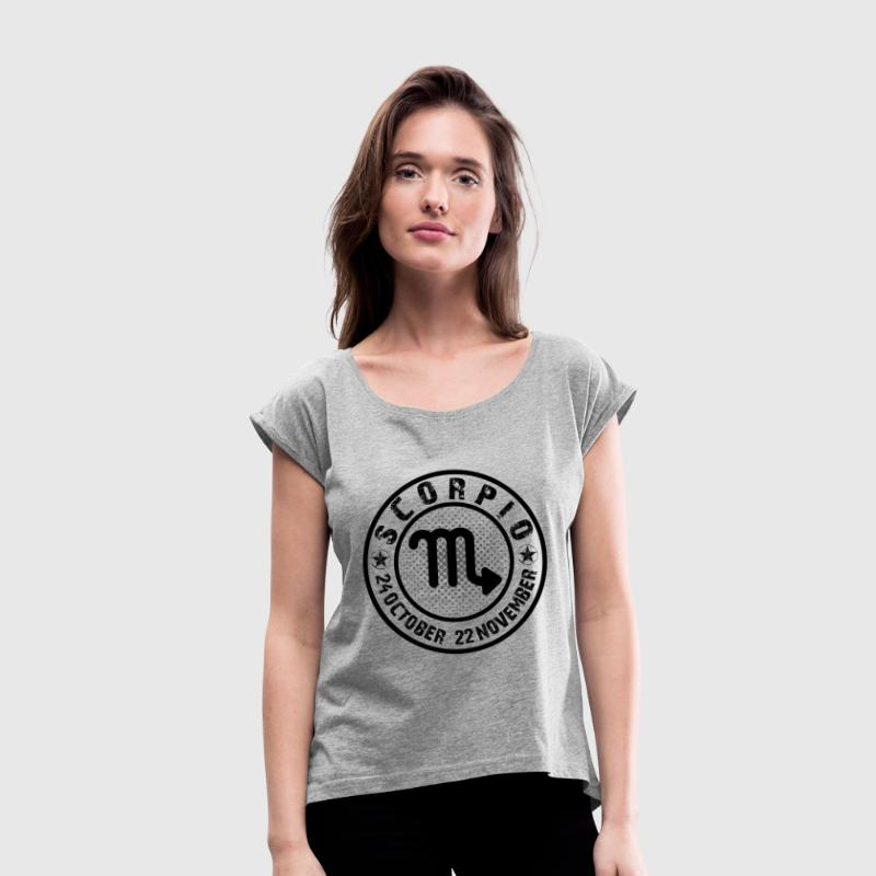 -SCORPIO- - Women's T-Shirt with rolled up sleeves