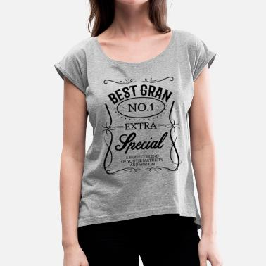 Worlds Best Gran Ever BEST GRAN - Women's T-Shirt with rolled up sleeves