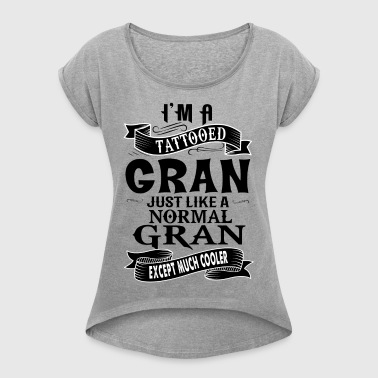 TATTOOED GRAN - Women's T-shirt with rolled up sleeves