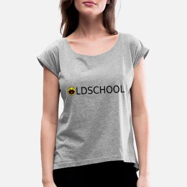 Old School Rave Oldschool Logo 1 - Women's T-Shirt with rolled up sleeves