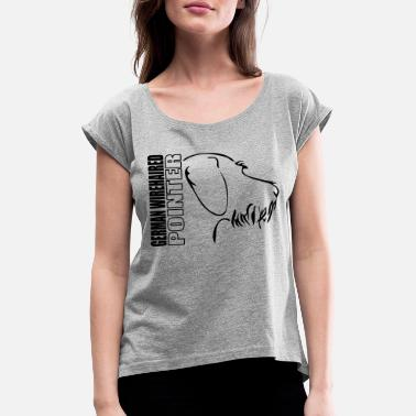 Pointer German wirehaired pointer PROFILE - Women's Rolled Sleeve T-Shirt