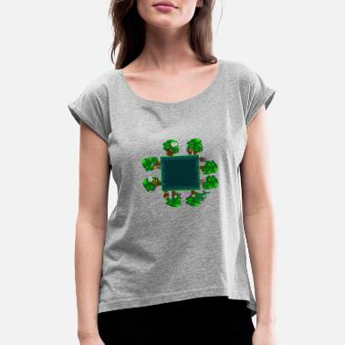 The Magic Jungle - Vrouwen T-shirt met opgerolde mouwen