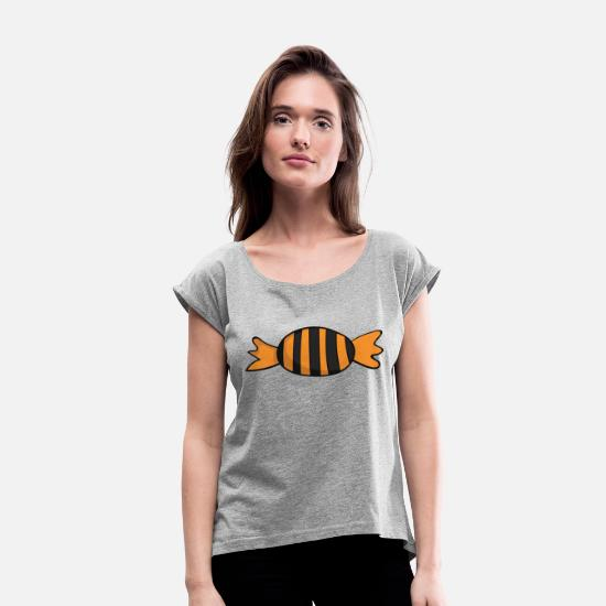 Birthday T-Shirts - Trick or Treat - Women's Rolled Sleeve T-Shirt heather grey
