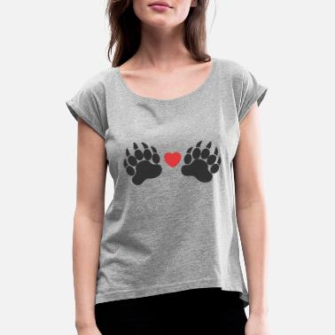 Paw Paws paws - Women's Rolled Sleeve T-Shirt