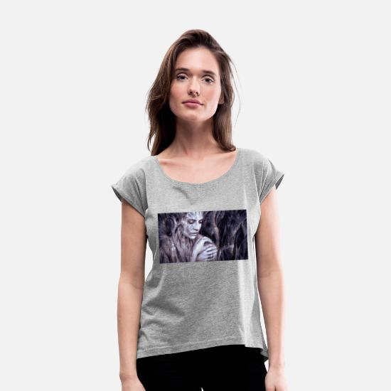Awesome T-Shirts - Illustration composing 2391033 - Women's Rolled Sleeve T-Shirt heather grey