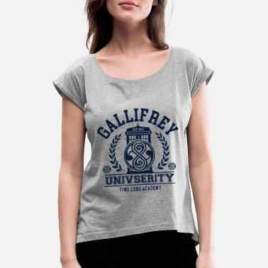 Time Lord Gallifrey University - Women's Rolled Sleeve T-Shirt