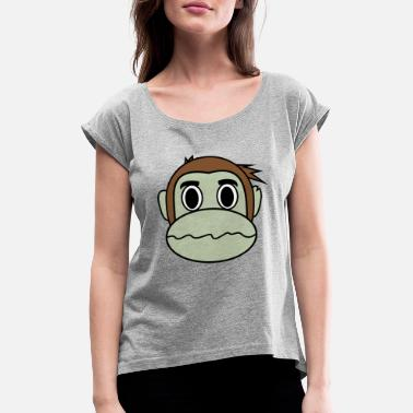 Dizzy Dizzy Monkey - Women's Rolled Sleeve T-Shirt