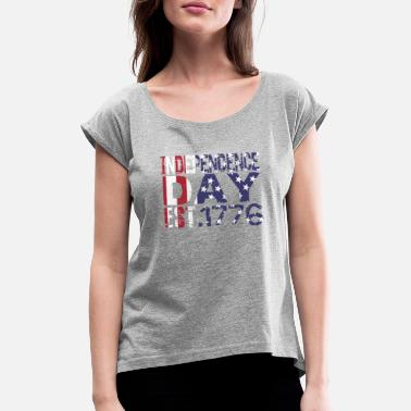 Americas America - Women's Rolled Sleeve T-Shirt
