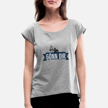 Guys Night Out Treat yourself - Women's Rolled Sleeve T-Shirt