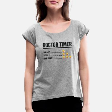 Clock Doctor alarm clock - Women's Rolled Sleeve T-Shirt