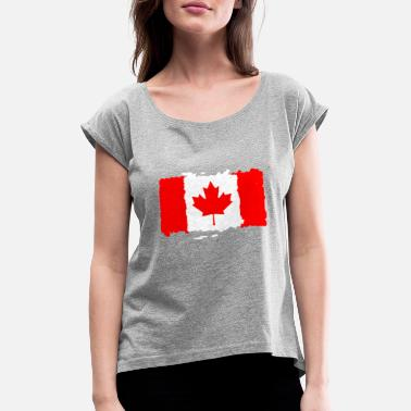 Canada Flag Canada flag - Women's Rolled Sleeve T-Shirt
