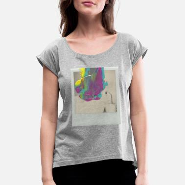 New dimensions of dreams - Women's Rolled Sleeve T-Shirt