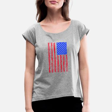 Stars And Stripes Stars And stripes - Women's Rolled Sleeve T-Shirt