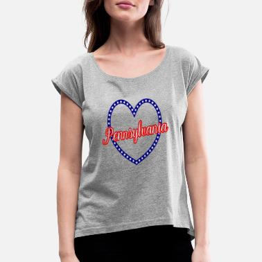 Pennsylvania Pennsylvania - Women's Rolled Sleeve T-Shirt