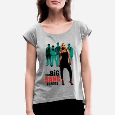 Officialbrands Tee shirt Femme Big Bang Theory Kaley - T-shirt à manches retroussées Femme
