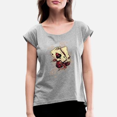 Spades Card Spades of blood cards - Women's Rolled Sleeve T-Shirt