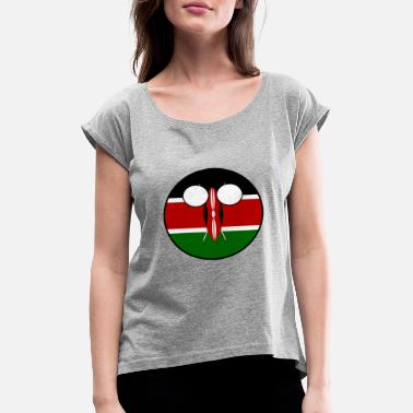 Countryballs Countryball Country Homeland Kenya - Women's Rolled Sleeve T-Shirt