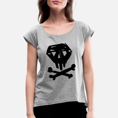 Sketch skull sketch sketch - Women's Rolled Sleeve T-Shirt