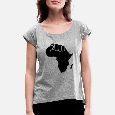 Power black power - Women's Rolled Sleeve T-Shirt
