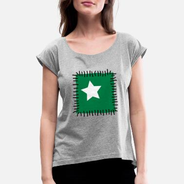 Needle Patch repair patchwork star sewing seam needle - Women's Rolled Sleeve T-Shirt