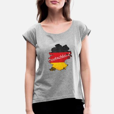 Deutschland - Women's Rolled Sleeve T-Shirt