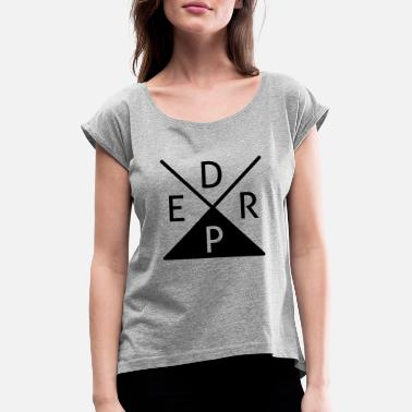 Derp derp - Women's Rolled Sleeve T-Shirt