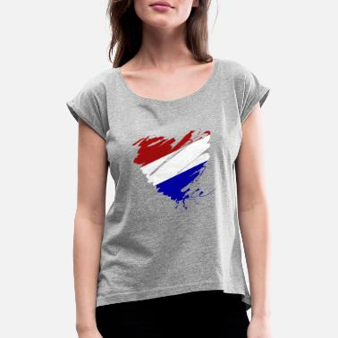 Its Good To Be The King Netherlands Holland Amsterdam Heart Europe Soccer - Women's T-Shirt with rolled up sleeves