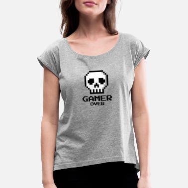 16bit Game over - Women's Rolled Sleeve T-Shirt