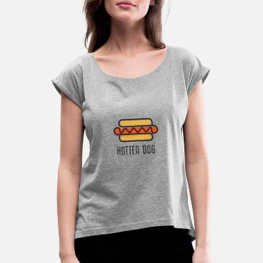 Bruzzler Hot Dog - Women's Rolled Sleeve T-Shirt