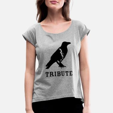 Erotic Movies hitchcocktribute blak - Women's Rolled Sleeve T-Shirt