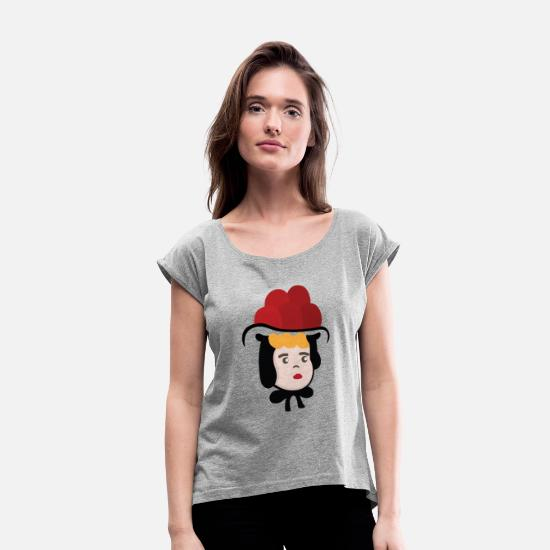 Black Forest T-Shirts - black forest Black Forest Black Forest Maedel Guta - Women's Rolled Sleeve T-Shirt heather grey