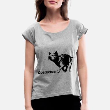 Obedience Obedience Cattledog - Women's Rolled Sleeve T-Shirt