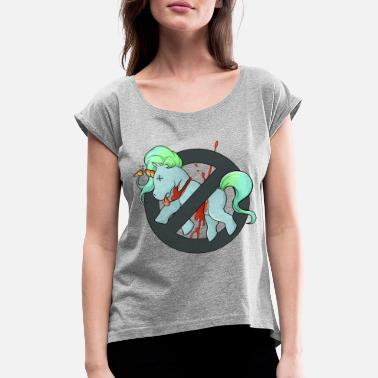 Conclude unicorn - Women's Rolled Sleeve T-Shirt