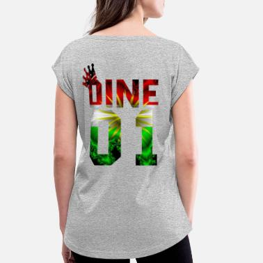 Dine Dine - Women's Rolled Sleeve T-Shirt