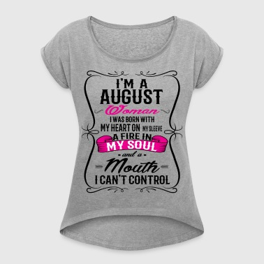 AUGUST WOMAN - Women's T-shirt with rolled up sleeves