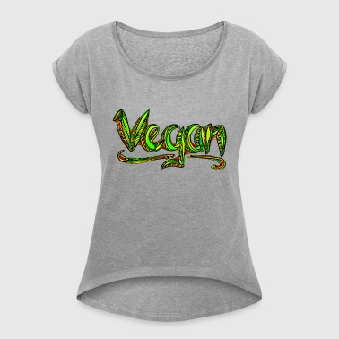Vegan, animal welfare,  save earth, nature - T-shirt à manches retroussées Femme